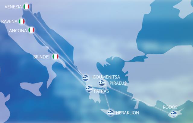 Greece- Italy ports