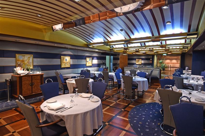 Inside Grimald's ferry, restaurant