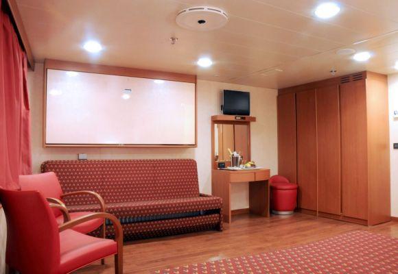 Cabin in Grimaldi's ship