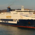 Grimaldi Lines ship - Cruise Roma in Civitavecchia port