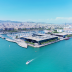 Top view of port Barcelona