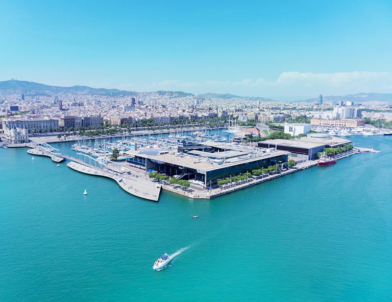 Top view of port Barcelona